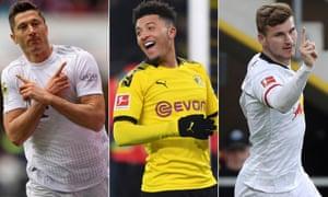Robert Lewandowski, Jadon Sancho and Timo Werner have been banging in the goals this season