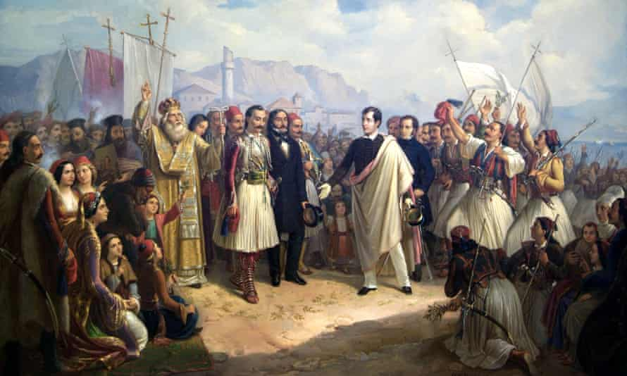 The Reception of Lord Byron at Missolonghi, an 1861 painting by Theodoros Vryzakis