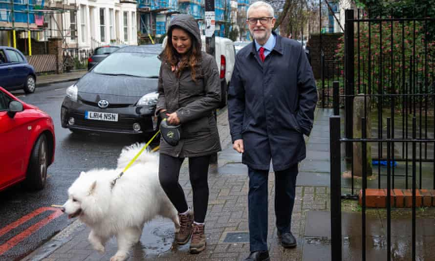 Jeremy Corbyn arrives at the Finsbury Park Jobcentre, north London, in March.