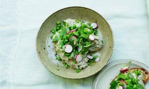 Spread or dip: creamed mackerel, crushed peas.