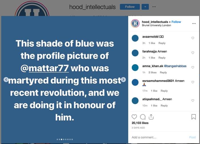 BlueforSudan: social media users show solidarity for