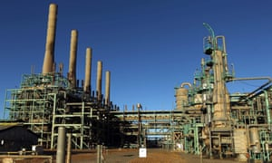 A general view of an oil refinery in Libya's northern town of Ras Lanuf