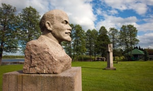 Bust of Lenin at Grutas Park, Lithuania.