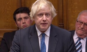 Boris Johnson speaking in the Commons on Tuesday.
