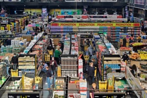 Beirut, Lebanon Shoppers stock up two days before a total lockdown