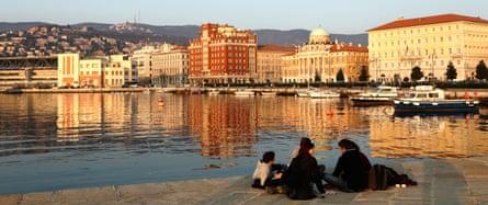 "Trieste's seafront: ""a sort of anti-Southampton""."