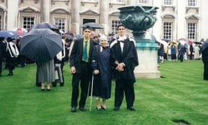 Gautam Malkani with his mother and brother at his graduation.