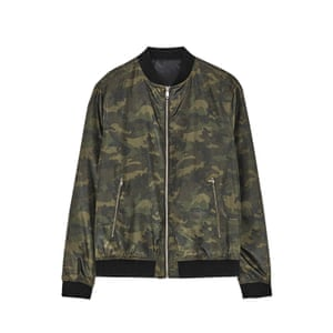 green camouflage bomber jacket Zara