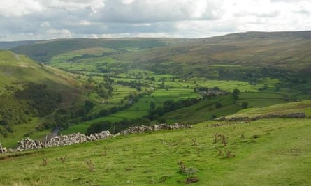 The view down Swaledale.