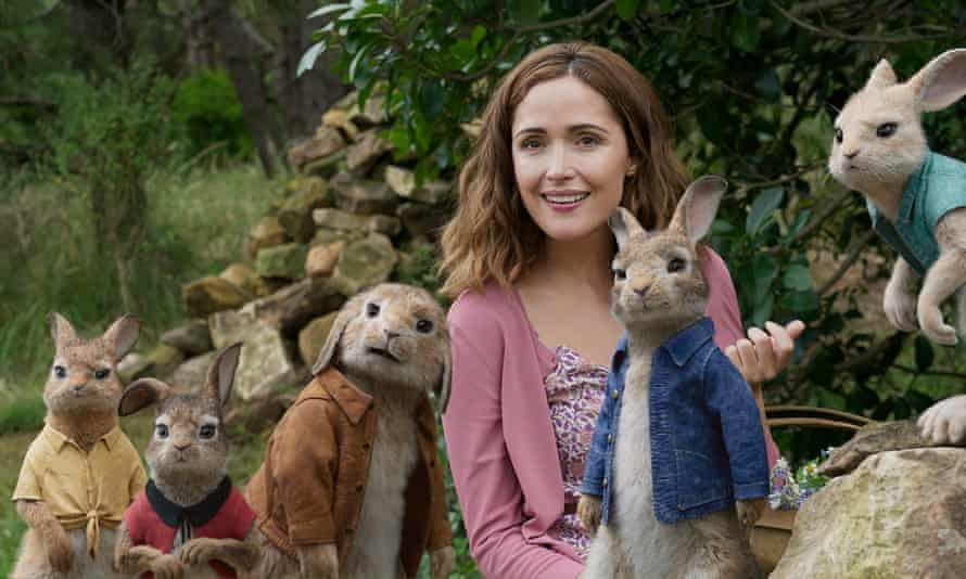 Peter's friends … Rose Byrne as Beatrix Potter and her cute creations.