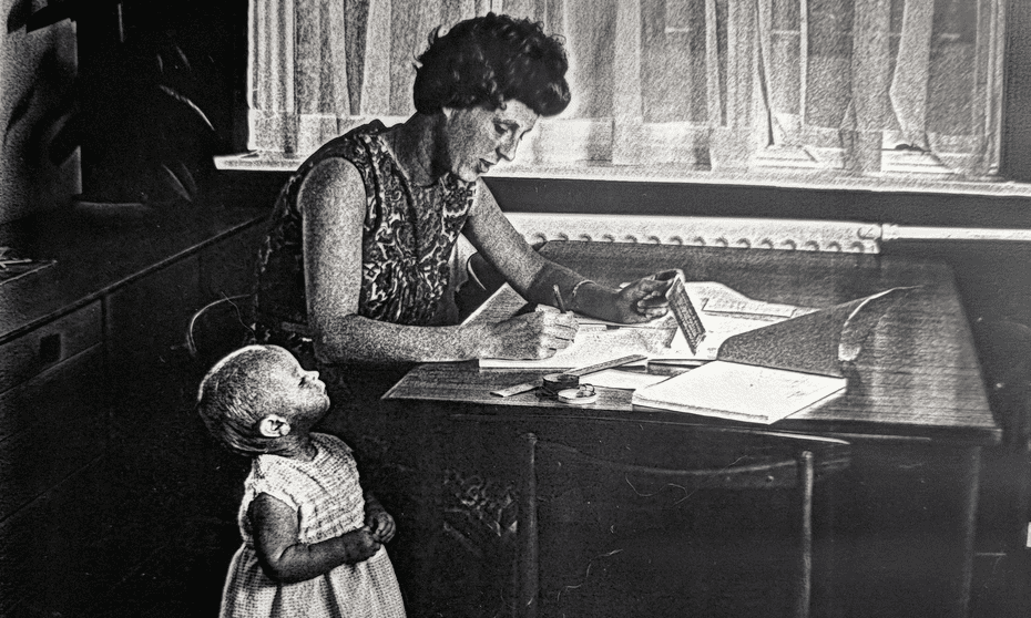 Ann Moffatt working on the Concorde in 1966 while caring for her young child.