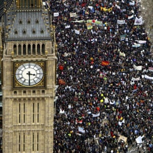 Protesters against the invasion of Iraq, February 2003.