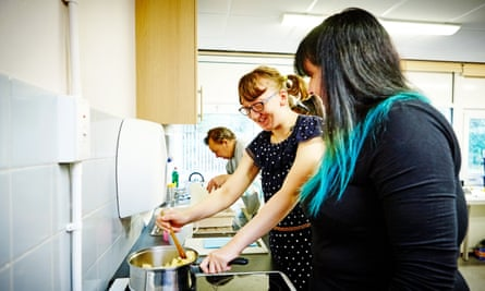 woman with learning disabilities cooking