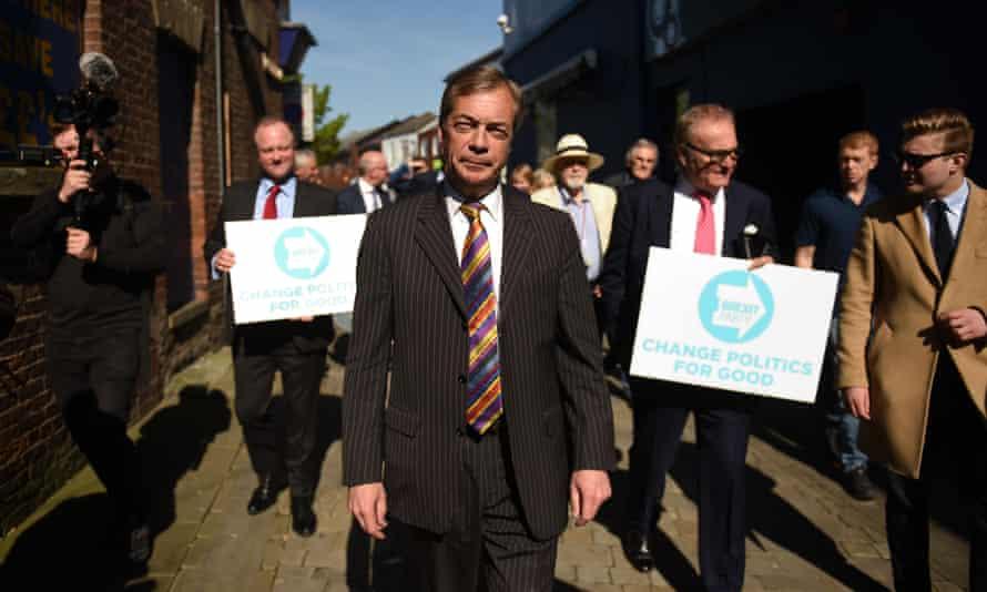 Nigel Farage in Pontefract, West Yorkshire
