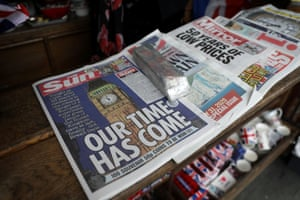 Newspapers and other souvenirs for sale near Parliament Square in London