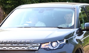 David Gauke (right) arrives at Chequers.