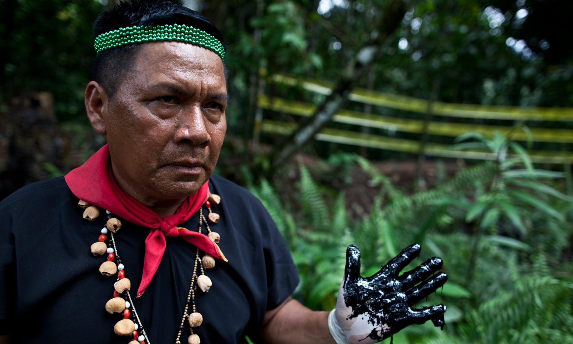 Emergildo Criollo, a Kofan leader and member of the Ceibo Alliance. Photograph: Ceibo Alliance
