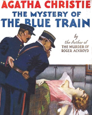 Lady killer: dust jacket of The Mystery of the Blue Train, 1928.