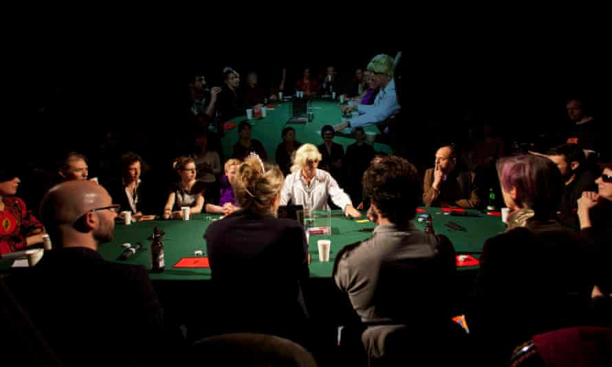 Power Game, a live, unrehearsed performance that uses gambling as a lens on identity and power.