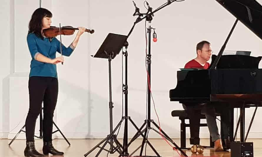 Finely judged ... violinist Sophie Rosa and pianist Ian Buckle.