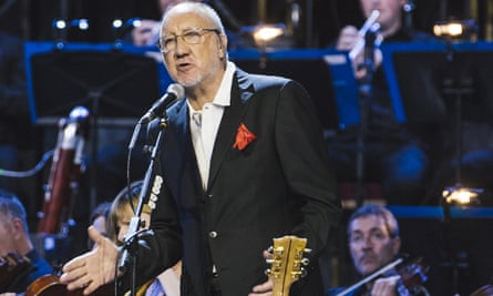 Pete Townshend on stage for Classic Quadrophenia