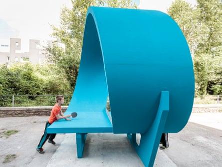"Laurent Perbos, ""Ping-pong park"", Quai Mitterrand, Nantes."