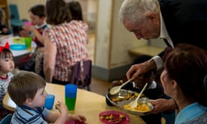 Jeremy Corbyn visits a Sure Start centre in south London in 2017