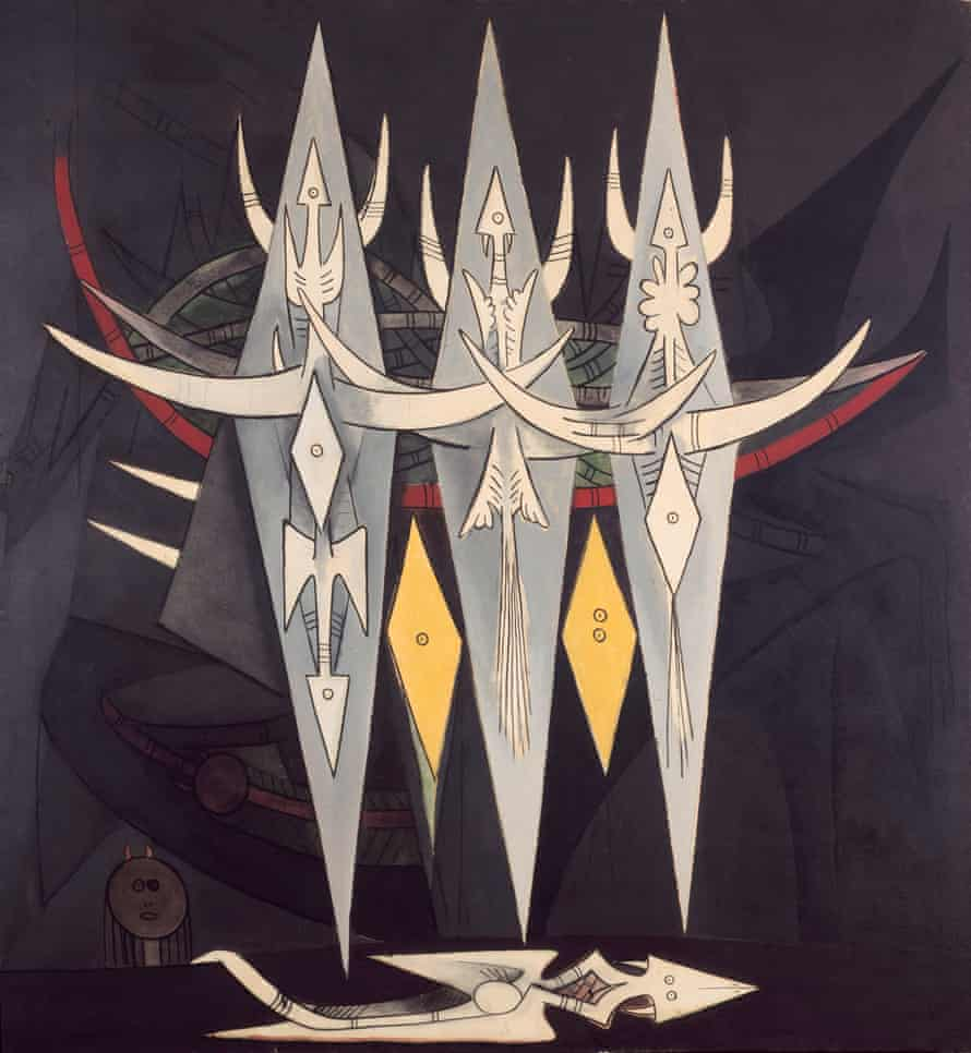 Umbral (Seuil), 1950, by Wifredo Lam.