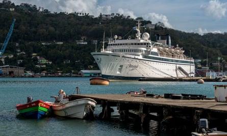 The Freewinds in quarantine in Castries, St Lucia