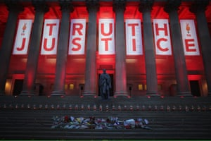 A Truth and Justice banner after the Hillsborough verdict