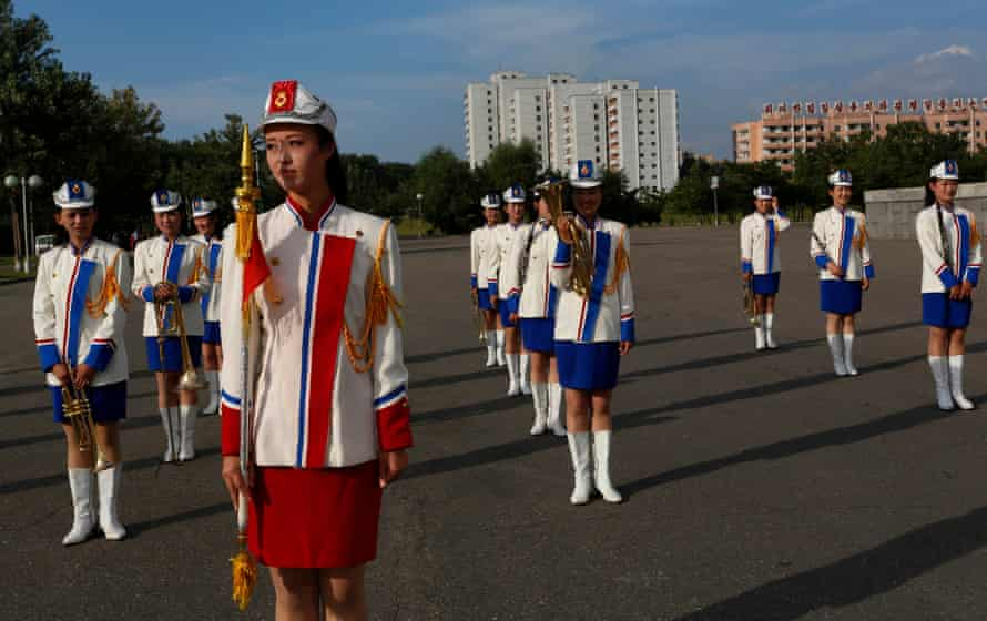 Pomp and circumstance … a North Korean musical band perform before the opening of the 2012 iteration of the film festival.