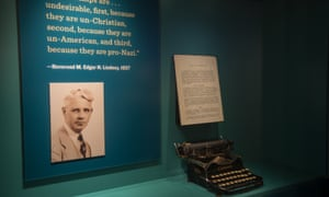 'Right across all this media we see that Americans could have had access to information about the threat of Nazis if they were paying close attention,' said exhibition curator Daniel Greene.