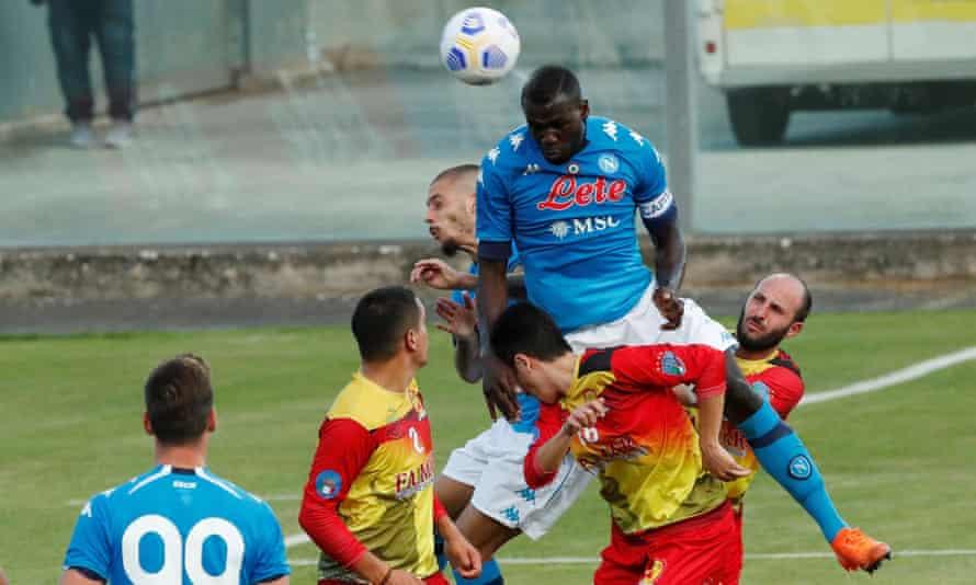 Napoli's Kalidou Koulibaly in pre-season action last weekend.