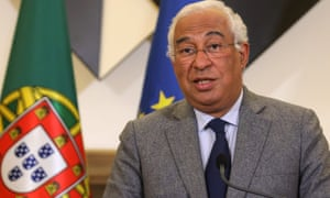 Prime Minister Antonio Costa speaks during a press conference after a Council of Ministers meeting in Sao Bento Palace in Lisbon, Portugal, 18 January 2021.