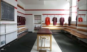 Arsenal's dressing-room at Highbury