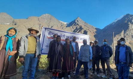 Villagers in Kwaring , Himachal Pradesh