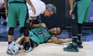 The Boston Celtics' hopes of beating the Atlanta Hawks took a huge hit when they lost Avery Bradley to a hamstring injury.