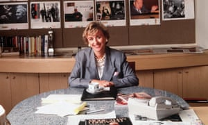 Tina Brown, editor of Vanity Fair magazine, in 1990.