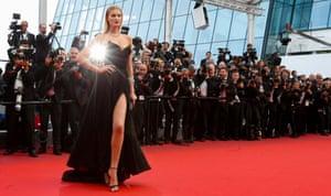 German model Toni Garrn arrives for the screening of 'Loving'