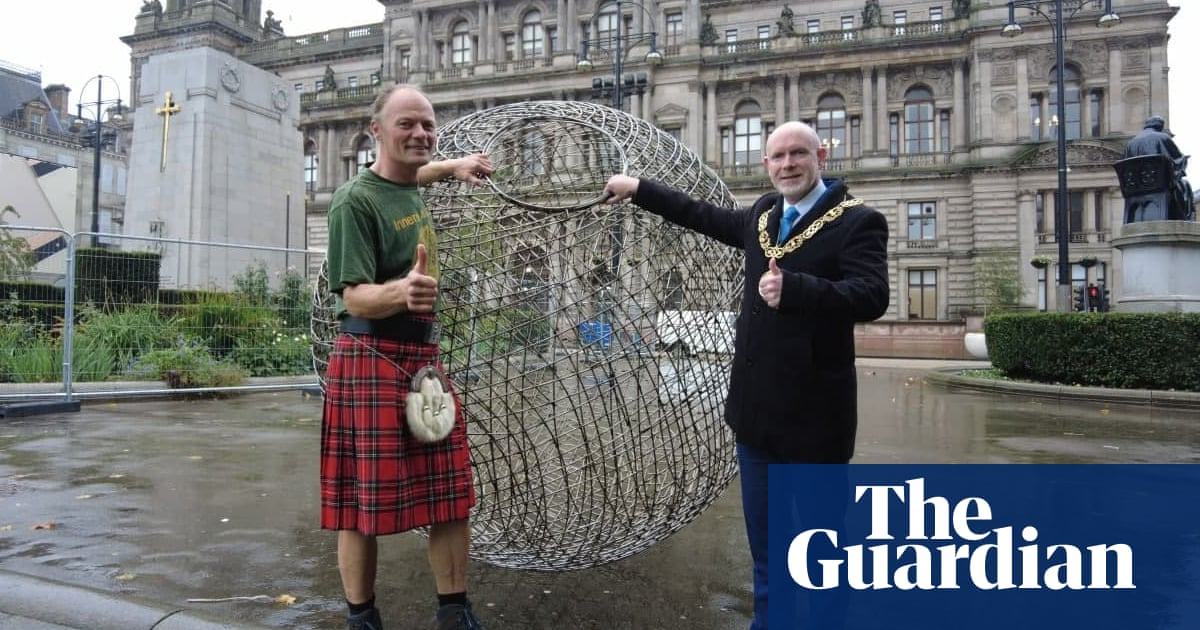 Cop26 activists head to Glasgow via land, sea – and in a giant metal ball