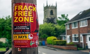 An anti-fracking poster on a post in Misson in Nottinghamshire.