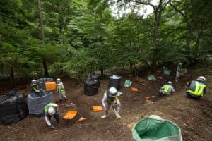 Radioactive decontamination in Iitate district, Japan, 15 July 2015.