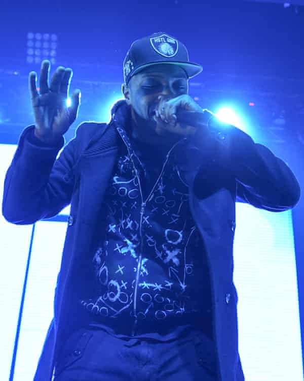 Rapper TI performing at Madison Square Garden in New York.