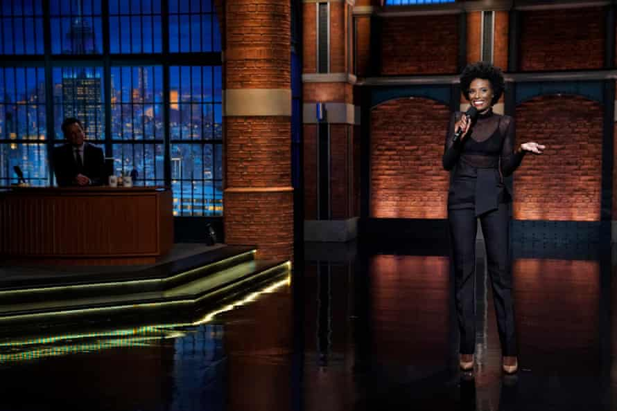 Zainab Johnson performs on Late Night with Seth Meyers in 2018.
