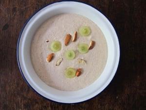 Myriam de Solages' soup features almond milk.
