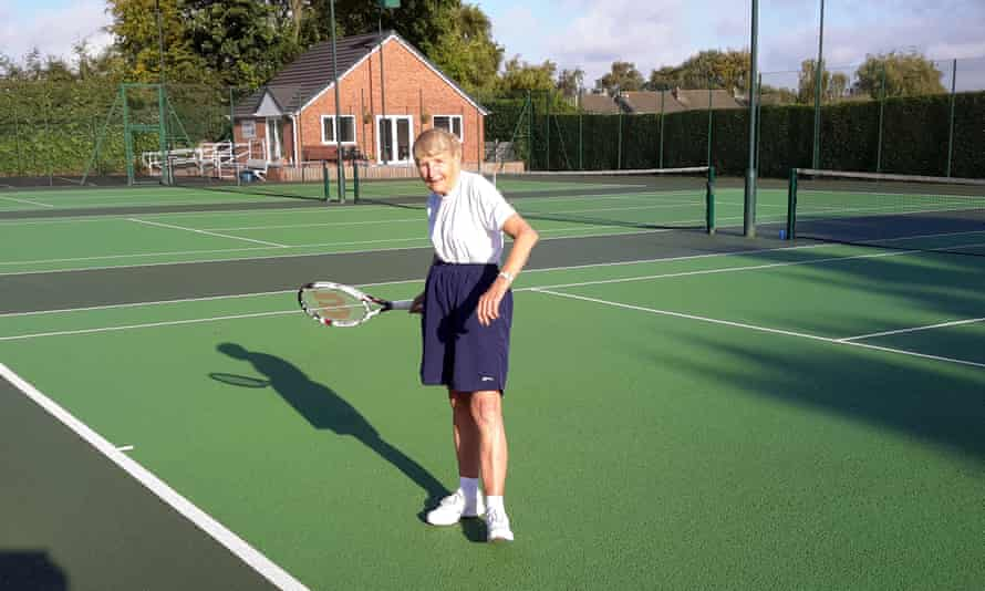 Marion Jordan on the tennis court