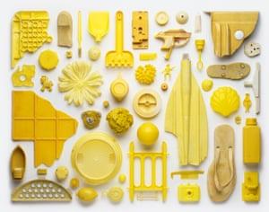 Collection (yellow) Stuart Haygarth photo arrangement