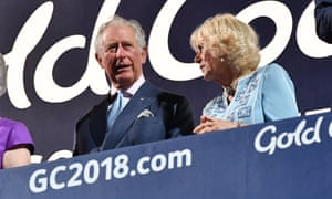 Prince Charles and Camilla, Duchess of Cornwall, during the opening ceremony of the Commonwealth Games