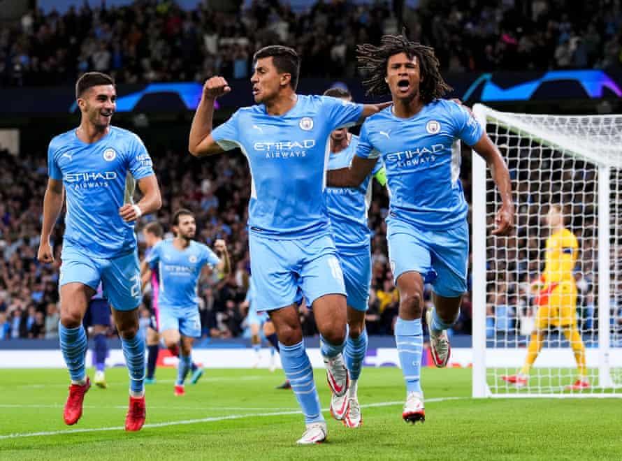 Nathan Ake celebrates his mid-week goal.