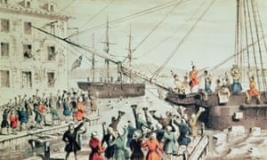 The Boston Tea Party of 1773 escalated into a revolution against British rule of the American colonies.